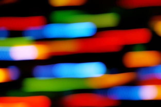 Sfondo di luci sfocate movimento colore