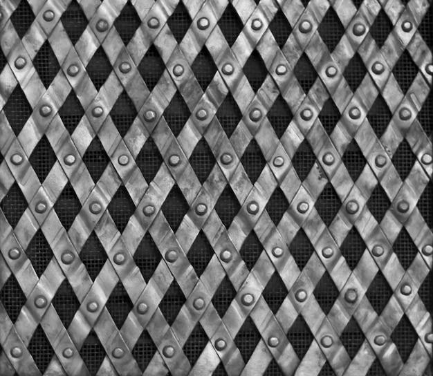 Sfondo di maglia metallica