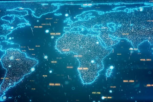 Sfondo di mappa del mondo globale