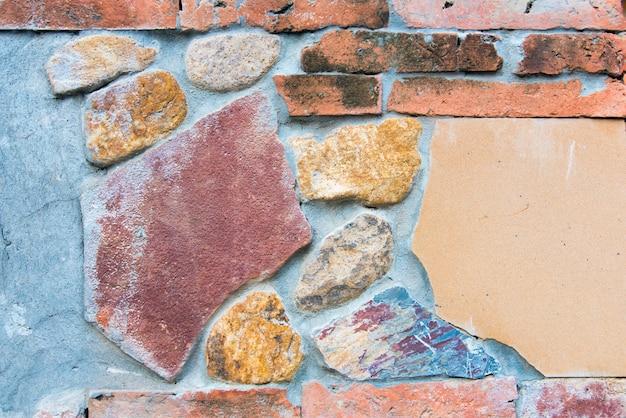 Sfondo di mattoni e pietra