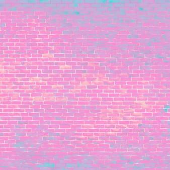 Sfondo di mattoni rosa brillante