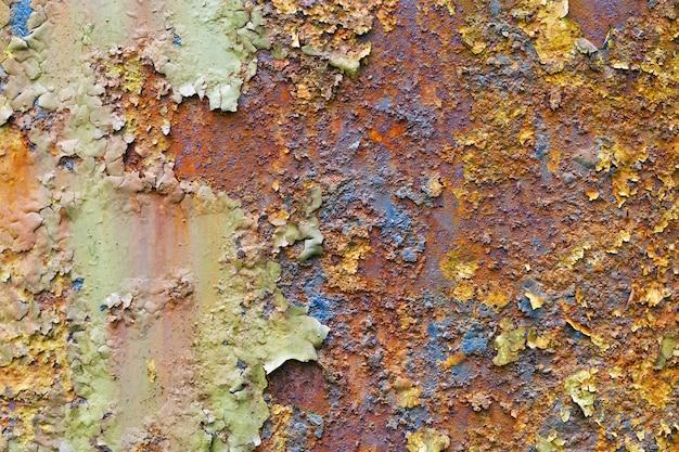 Sfondo di metallo arrugginito, vecchia superficie metallica.