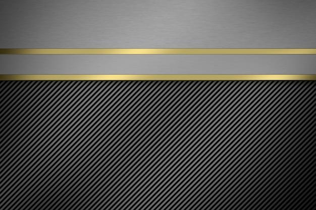 Sfondo di metallo. rendering 3d.