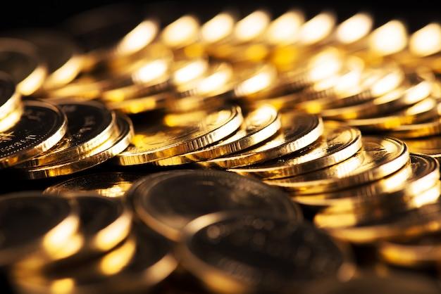 Sfondo di monete d'oro.