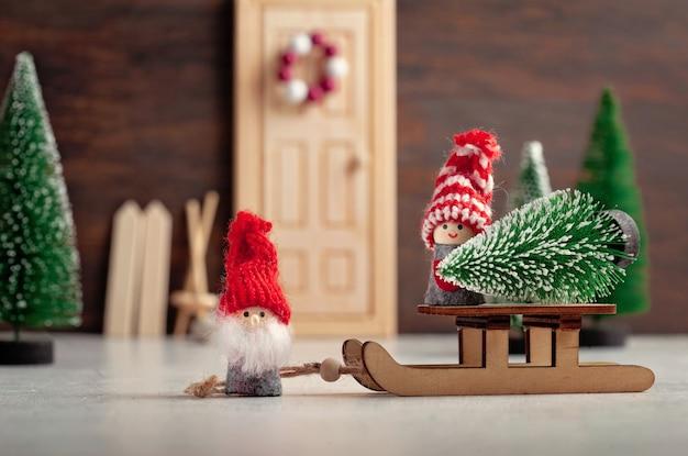 Sfondo di natale con decorazioni invernali