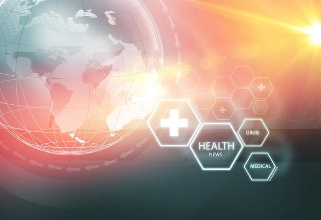 Sfondo di notizie sulla salute globale