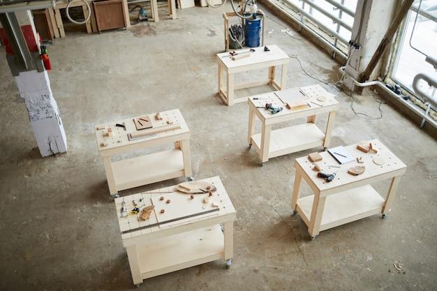 Sfondo di officina di carpentieri