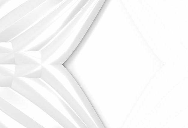 Sfondo di parete moderna luce bianca curva modello d'ondeggiamento.