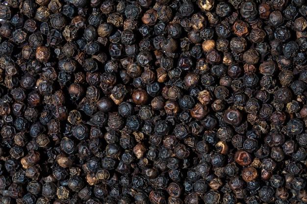 Sfondo di pepe nero secco