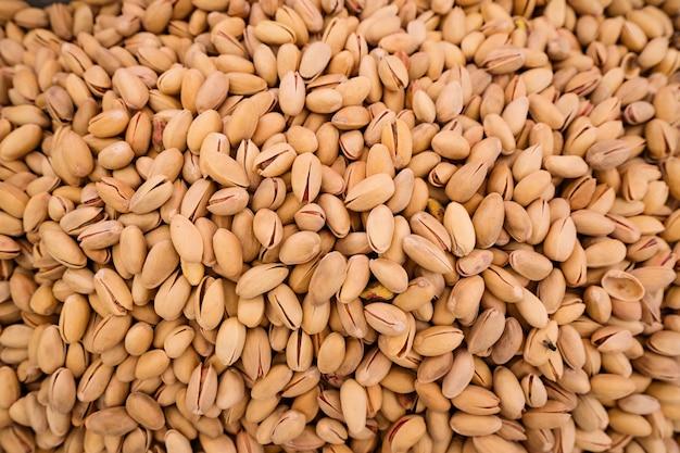 Sfondo di pistacchi biologici