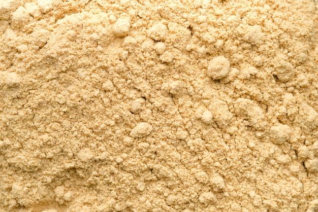 Sfondo di polvere di alimenti biologici