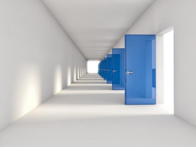 Sfondo di porte 3d