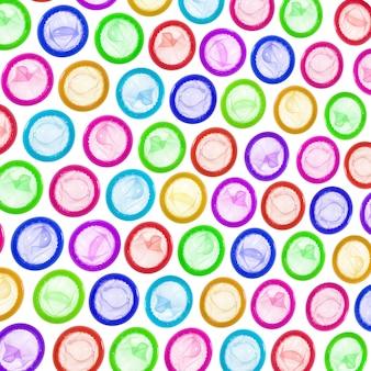 Sfondo di preservativi colorati