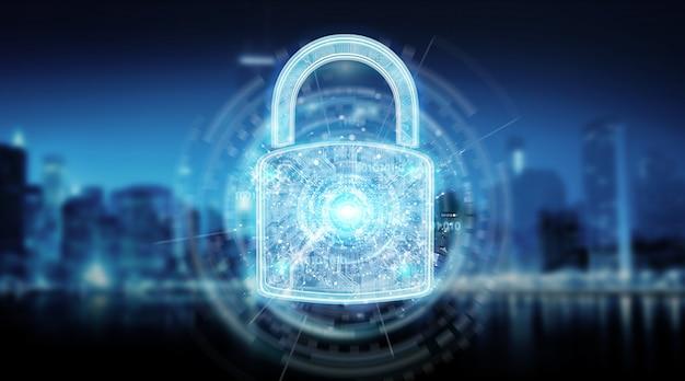 Sfondo di protezione della sicurezza web