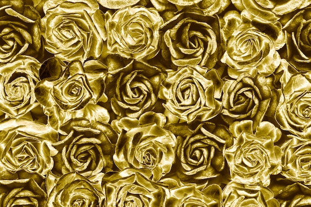 Sfondo di rose d'oro