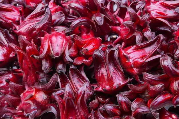 Sfondo di roselle fresca