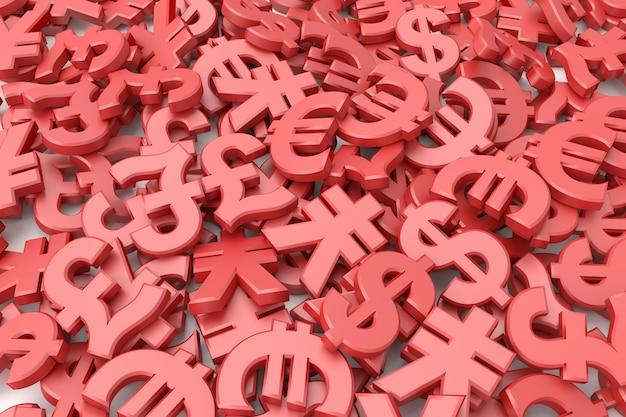 Sfondo di simboli di valuta
