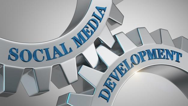 Sfondo di sviluppo dei social media