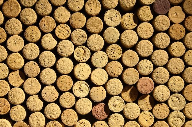 Sfondo di tappi di bottiglie di vino