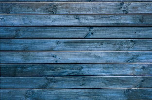 Sfondo di tavole di legno dipinte di verde e blu