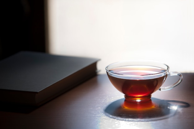 Sfondo di tè rosso