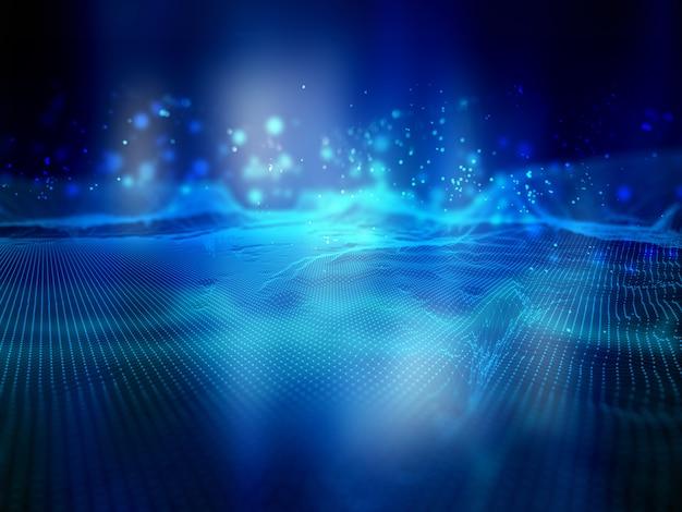 Sfondo di tecnologia connessioni di rete