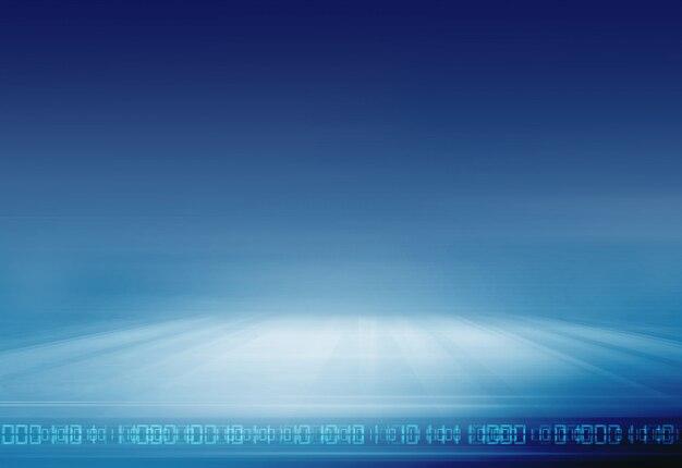 Sfondo di tecnologia digitale con codici binari