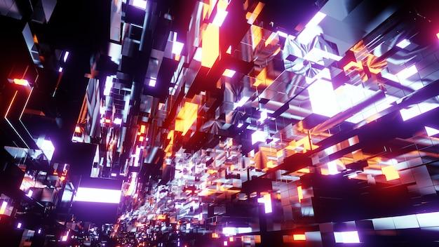 Sfondo di tecnologia spaziale blockchain
