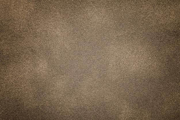 Sfondo di tessuto scamosciato bronzo chiaro
