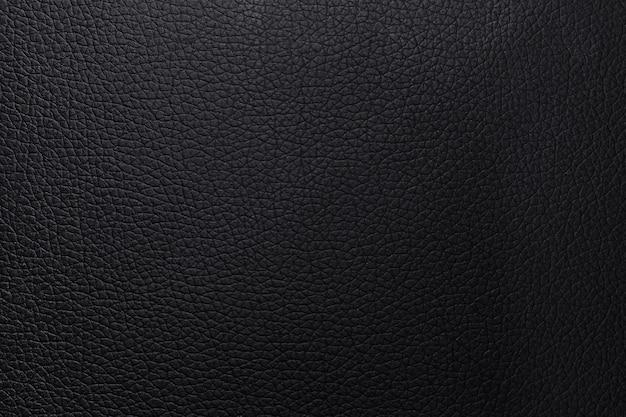 Sfondo di trama in pelle nera. modello di materiale astratto del portafoglio del primo piano o pelle di animale urtato lusso.