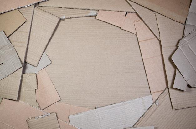 Sfondo di trame di carta accatastate pronto per riciclare.