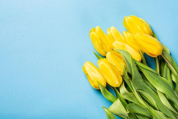 Sfondo di tulipani gialli