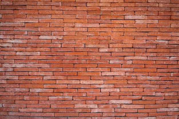 Sfondo di un muro di mattoni rossi.