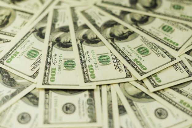Sfondo di un sacco di banconote di denaro contante