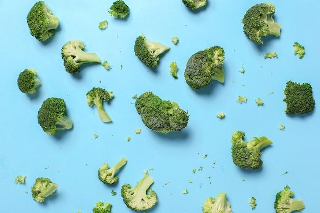 Sfondo di verdure broccoli freschi