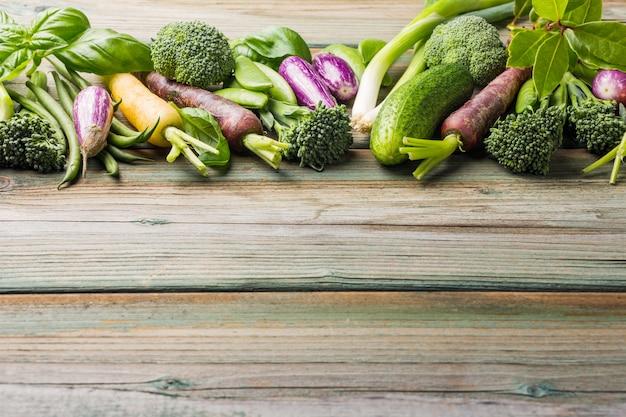 Sfondo di verdure fresche