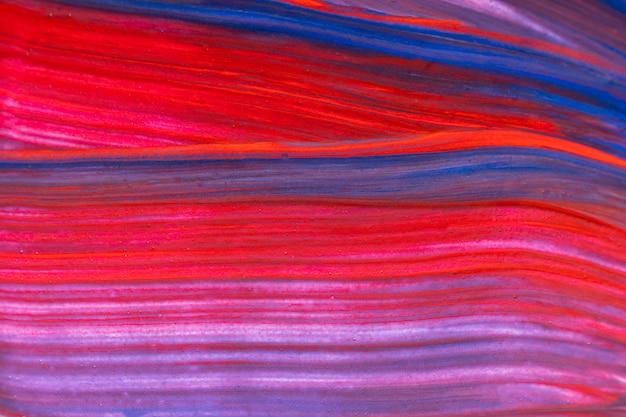 Sfondo di vernice colorata arte, rosso e blu