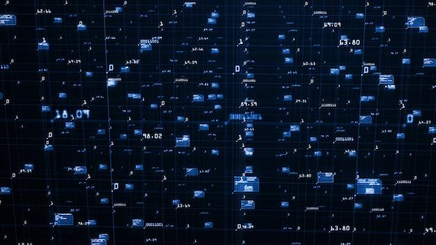 Sfondo di visualizzazione di grandi quantità di dati
