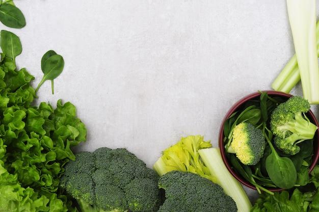 Sfondo fatto di verdure, concetto di cibo sano