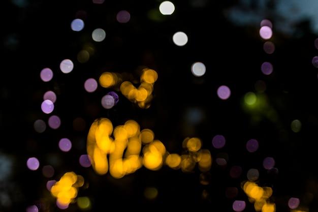 Sfondo festivo con punti luce