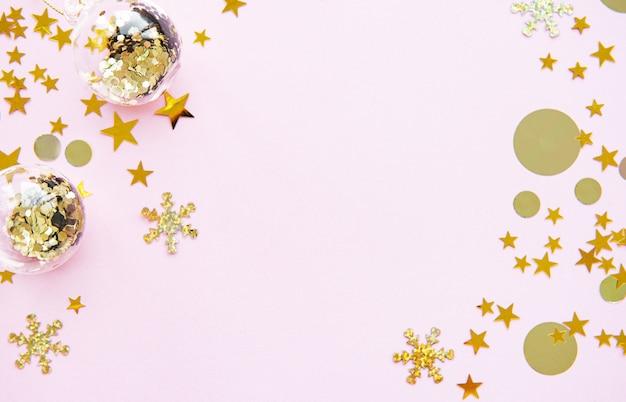 Sfondo festivo pastello rosa