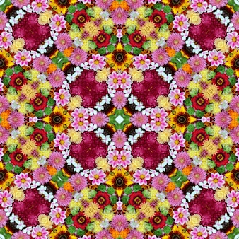 Sfondo fiore senza soluzione di continuità, vista dall'alto.