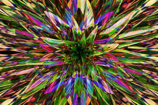 Sfondo fluorescente allucinogeno dalle piante dai colori surreali.