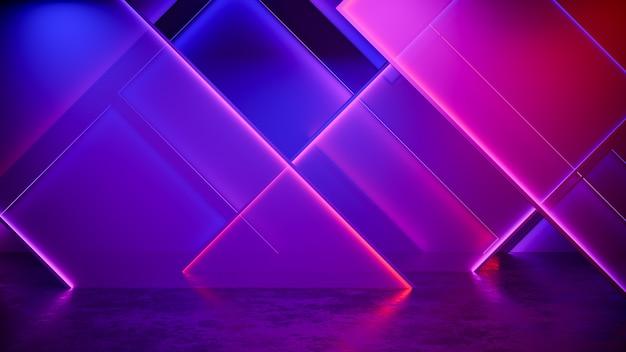 Sfondo futuristico moderno al neon