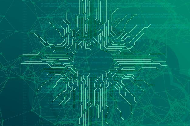 Sfondo futuristico moderno digitale