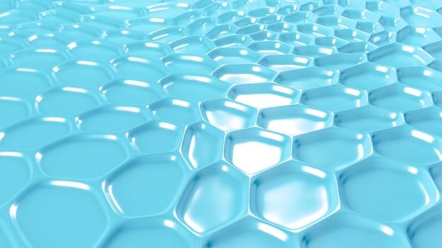 Sfondo geometrico blu con rilievo. rendering 3d.