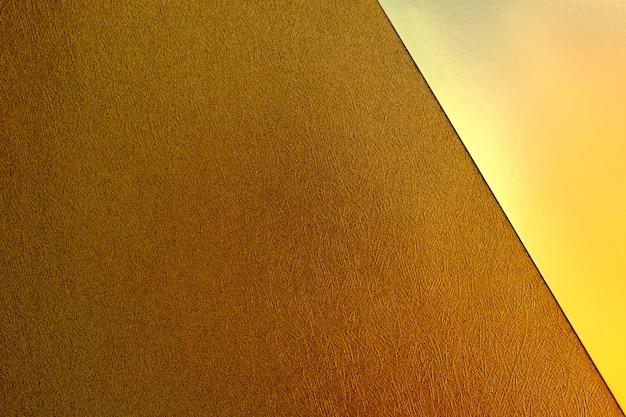 Sfondo geometrico di carta marrone e oro