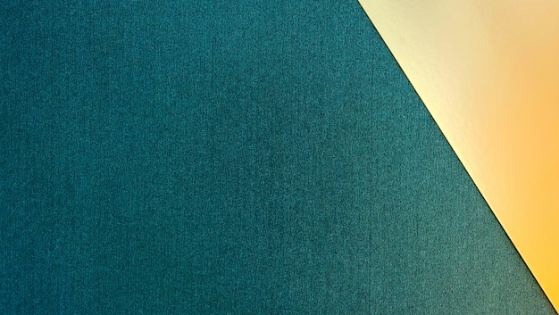 Sfondo geometrico di carta verde e oro