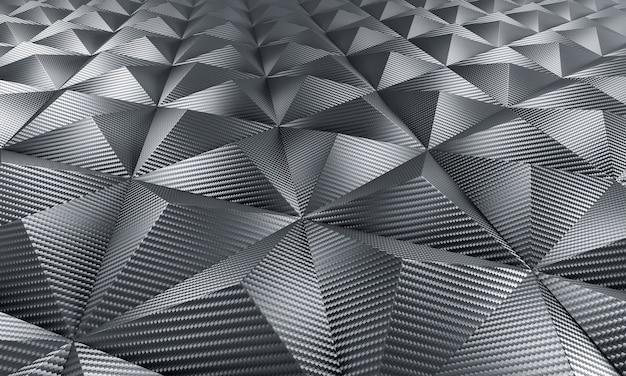 Sfondo geometrico in fibra di carbonio