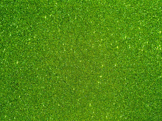 Sfondo glitter verde vista dall'alto